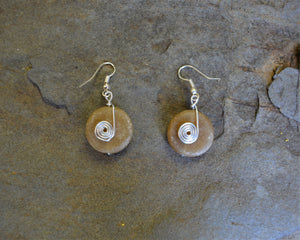 Sandy Bead Earrings