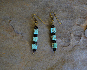 Turquoise Bead Drop Earrings