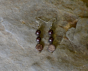 Wood Bead Earrings