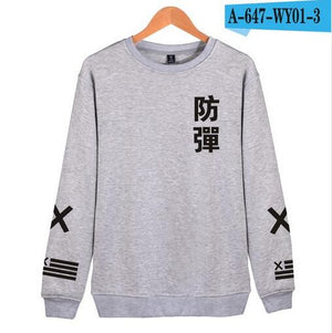 2018 BTS Kpop Harajuku Hoodies men Black Cotton Fashion Hip Hop Coat Capless Sweatshirt men BTS Korean Casual Bangtan Clothes-geekbuyig