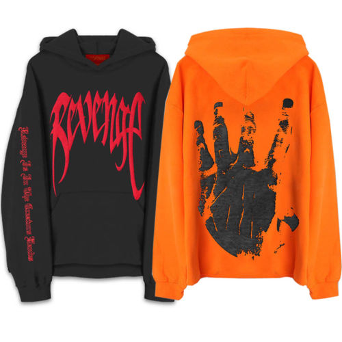 Revenge XXXTentacion Kill MENS Sweat Hoodie Sweatshirt Orange Black-geekbuyig