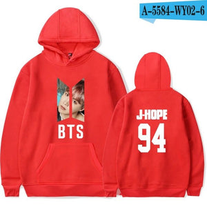 BTS LOVE YOURSELF Bangtan Boys Women Hooides Sweatshirts Mens K-pop Fans Sweatshirts Autumn Winter Red Pink Clothes-geekbuyig