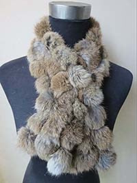 Women's Real 100% Rabbit Fur Handmade New Fishtail Scarf /Neckerchief 5 Colors Winter Warm-geekbuyig