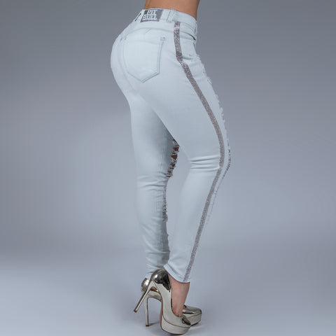 Women's Super Destoyed BoyFriend Jeans - 29636