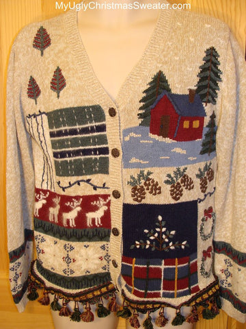 Ugly Christmas Sweater with Reindeer and More!
