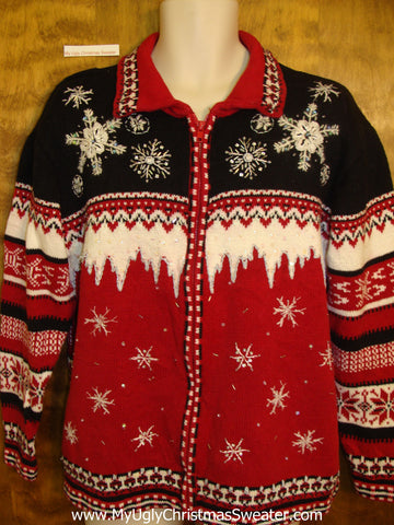 Ugliest Christmas Sweater Geometric Mess