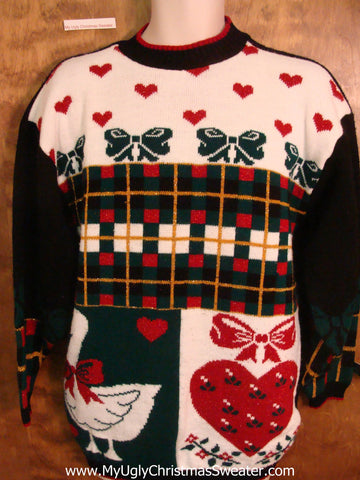 80s Acrylic Gem Horrible Christmas Sweater Pullover