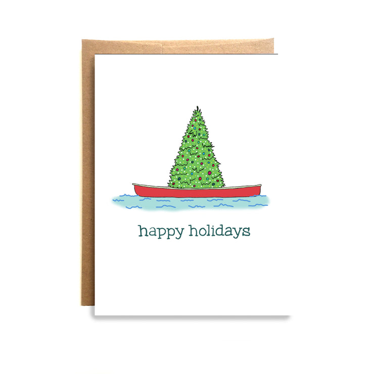 Holiday Canoe Card