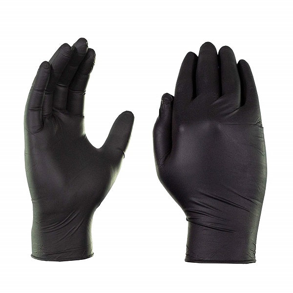 Nitrile Ultra Soft Powder Free Black Gloves Small 5 x 100Pk