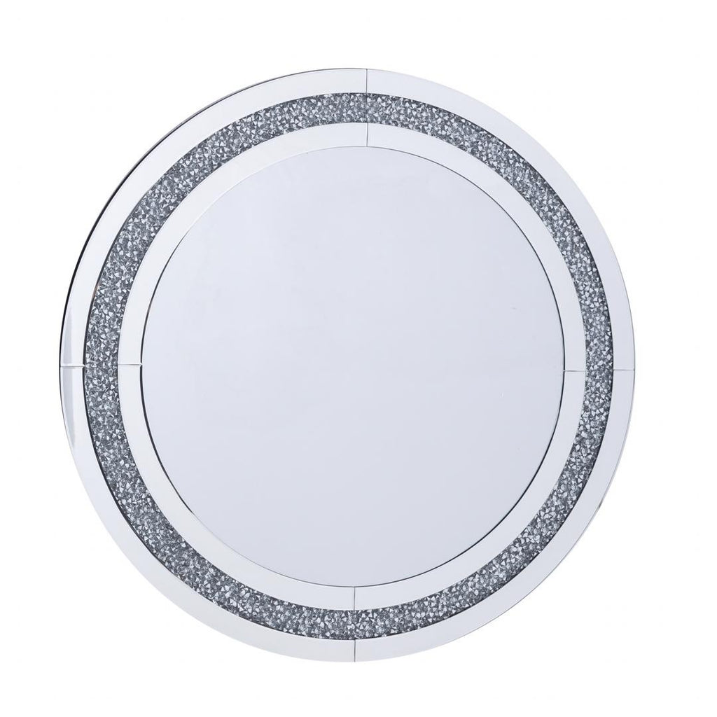 Crushed Crystal Round Mirror