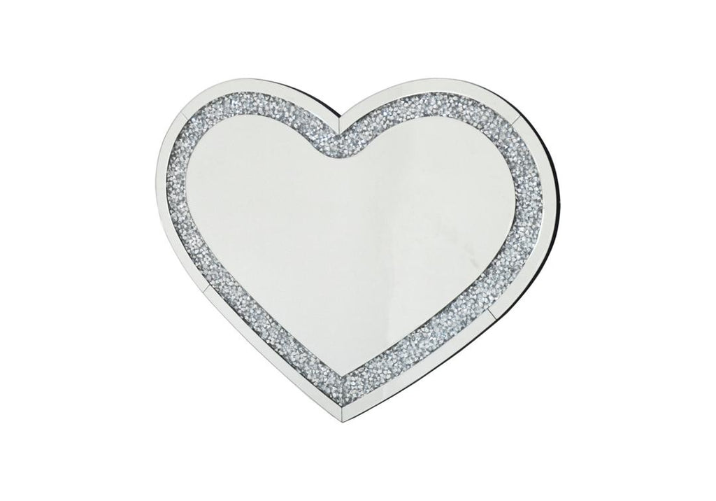 Crushed Crystal Heart Mirror