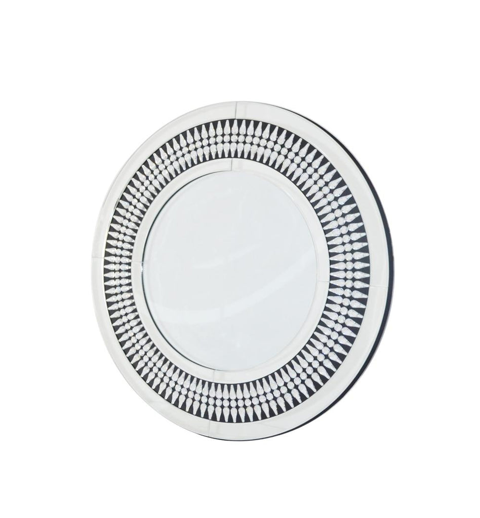 Round Patterned Mirror