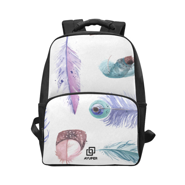 Watercolour Feathers BackPack - Ayuper