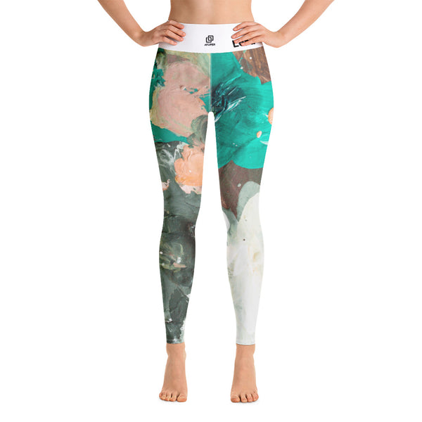 Messy Paint Yoga Leggings - Ayuper
