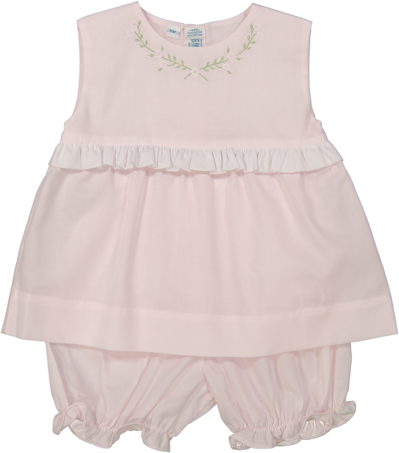 Feltman Brothers Sleeveless Two Piece Bloomer Set - Pink
