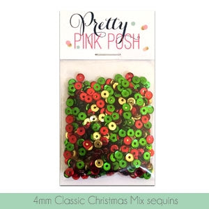 4mm Classic Christmas Sequins Mix