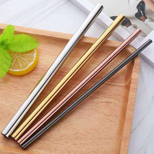 STAINLESS STEEL STRAWS - set of 4