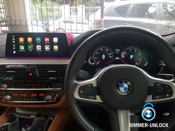 BMW G30 with Apple carplay Full Screen