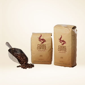 Dark roast coffee beans comes in 12oz and 16oz.