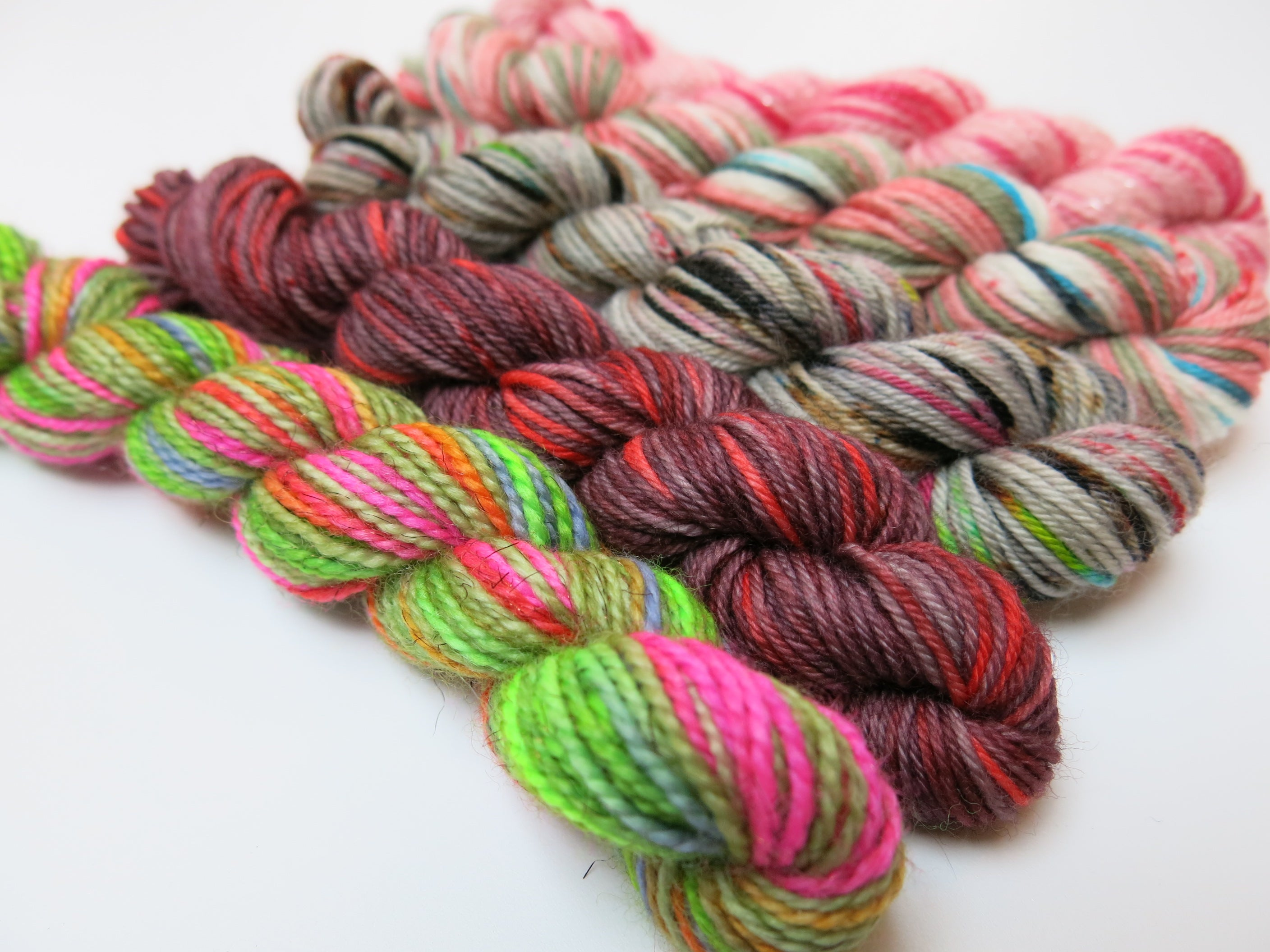 zombie undead themed superwash sock yarn mini skein set