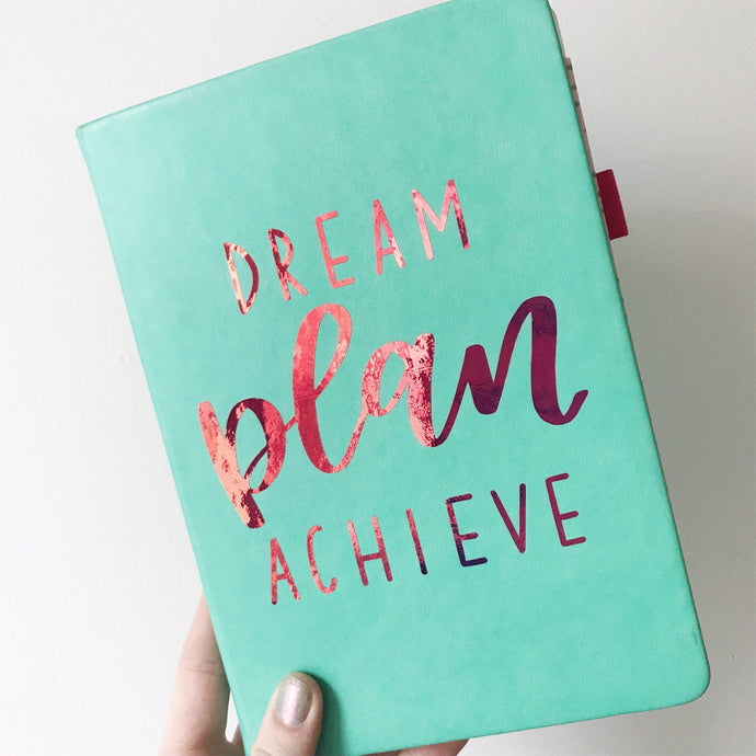 Dream, Plan, Achieve Vinyl Planner Sticker