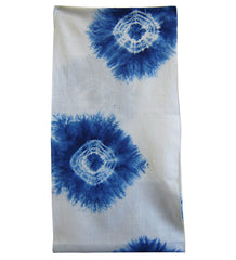 A Shibori Diaper: Indigo Spiderwebs