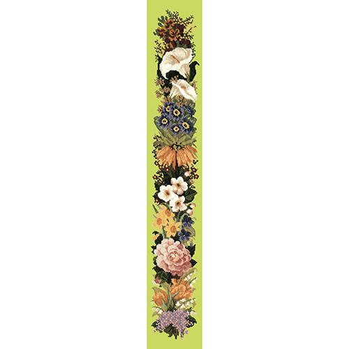 Easter Bell Pull Needlepoint Kit Elizabeth Bradley Design Pale Lime