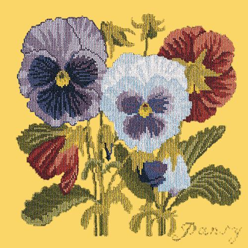 Pansy Needlepoint Kit Elizabeth Bradley Design Sunflower Yellow