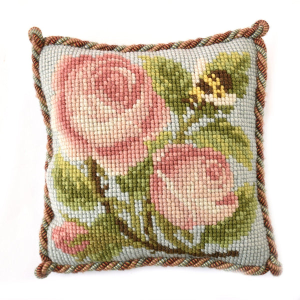 Rose and Bee Mini Kit Needlepoint Kit Elizabeth Bradley Design