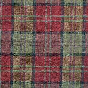 Luxury Dog Bed Tartan Fabric Covers in red