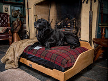 Load image into Gallery viewer, Luxury Dog Bed fitted with Red Tartan Fabric Cover by Berkeley
