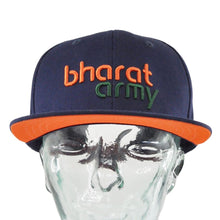Load image into Gallery viewer, Bharat Army Navy Blue Snapback Cap