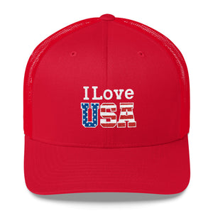 I Love USA Trucker Cap