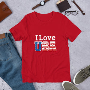 I Love USA Unisex T-Shirt
