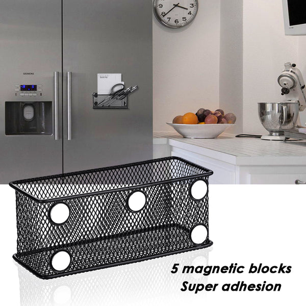 4PCS Magnetic Hanging Basket Set, Kitchenware Storage Basket, Stationery Holder
