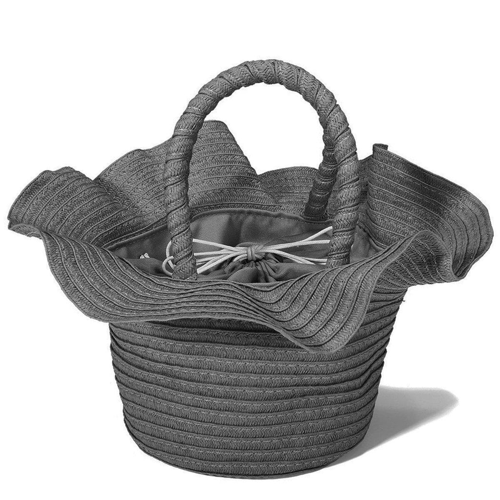 Flower Shaped Drawstring Straw Bag-Luckyfine