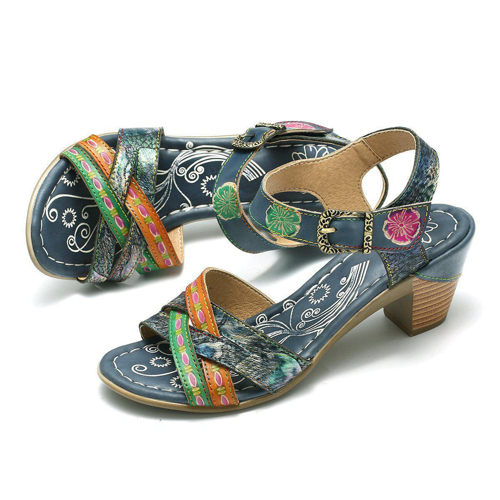 Ladies Leather Summer Sandals