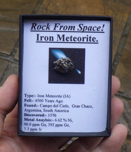 Small Campo del Cielo Iron Meteorite | Earthfound.co.uk