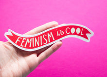 Load image into Gallery viewer, Feminism is Cool Vinyl Sticker