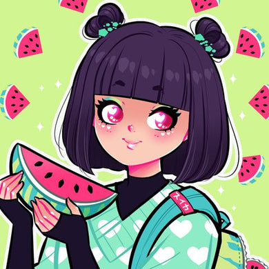 DELICIOUS WATERMELON ART PRINT (SIGNED)