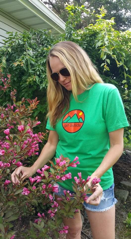 Unisex Get Outside Color Logo Tee