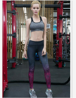 Artistic Color Blend Fitness Yoga Pants