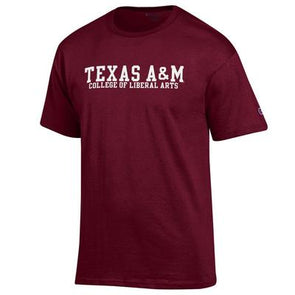 Texas A&M College of Liberal Arts Champion T Shirt