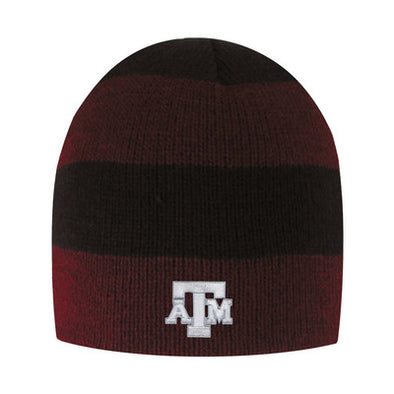 Texas A&M LogoFit Columbia Rugby Striped Beanie