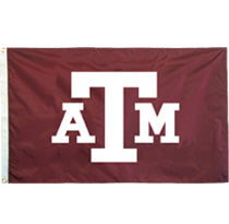 Texas A&M Appliqued Two Sided Flag