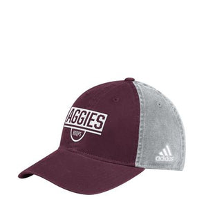 Texas A&M Adidas Adjustable Hat - Mar/Grey