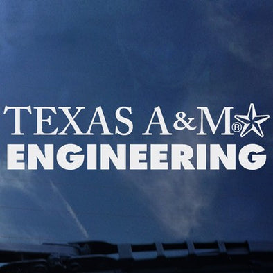 Texas A&M Engineering Color Shock Decal