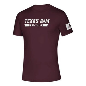 Texas A&M Adidas Mens Tennis Creator T Shirt