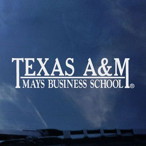 Texas A&M Mays Business Color Shock Decal