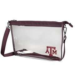 Texas A&M Large Crossbody Clear Bag